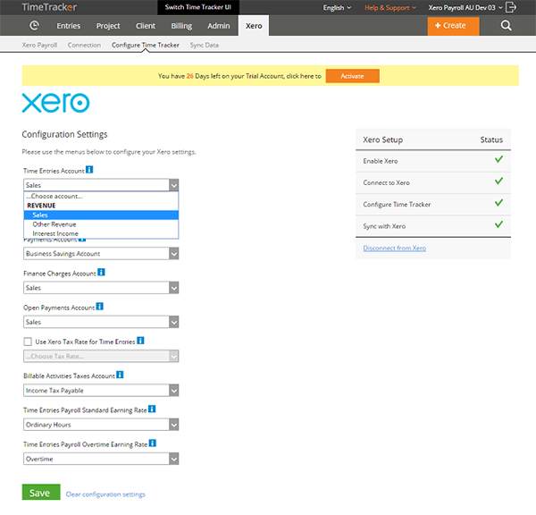 Xero Time Tracker eBillity