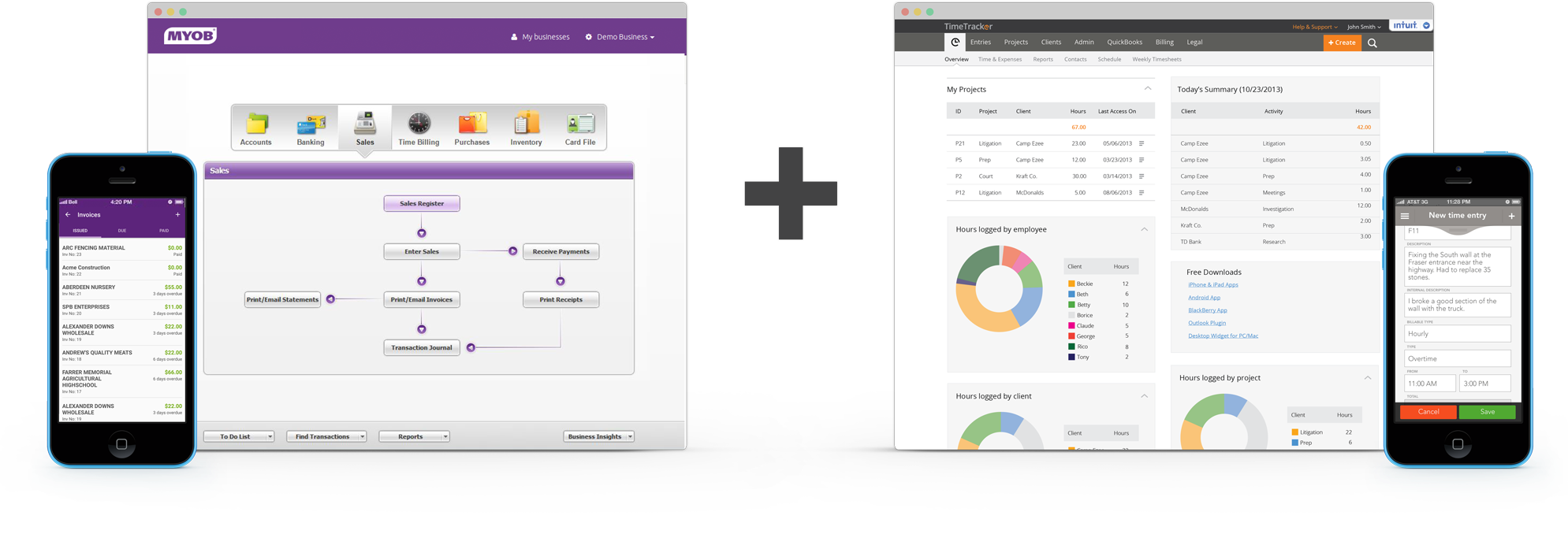 Time tracking with MYOB