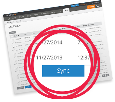 Two-way sync time tracking