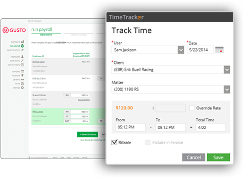 Approve timesheets and sync with Gusto