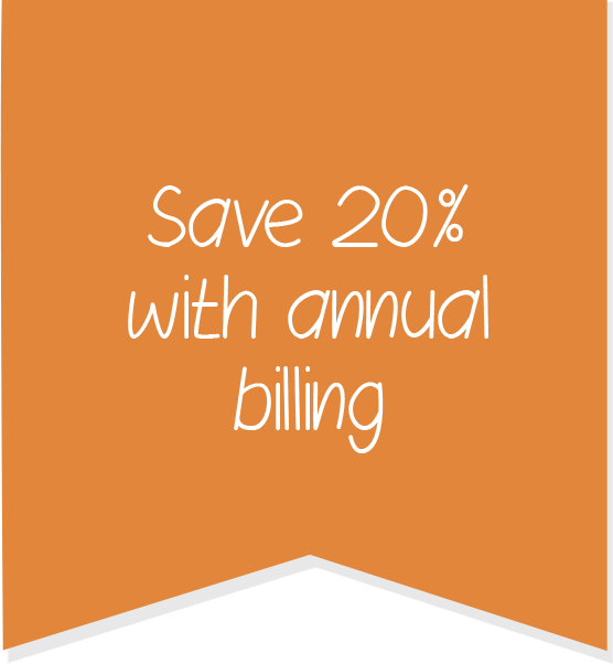Save 20% with annual billing