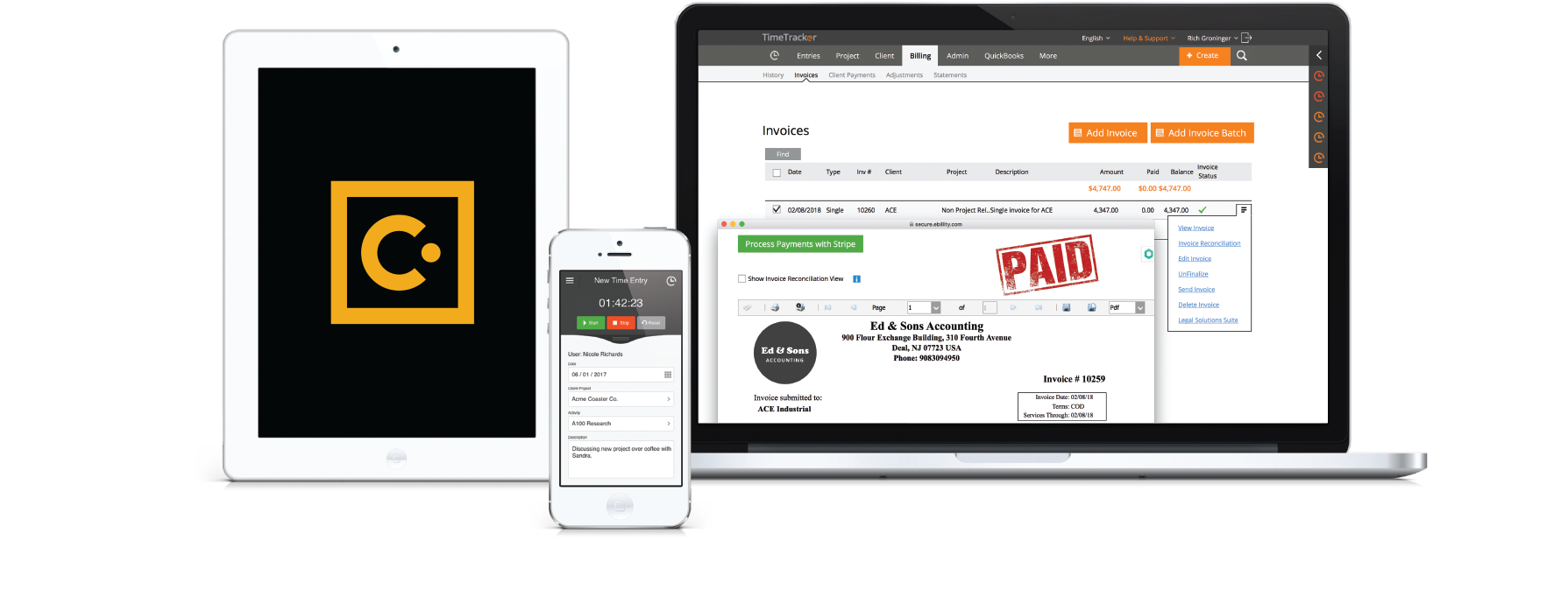 Time Tracker with Concur | Time Tracking Software | Time Tracker