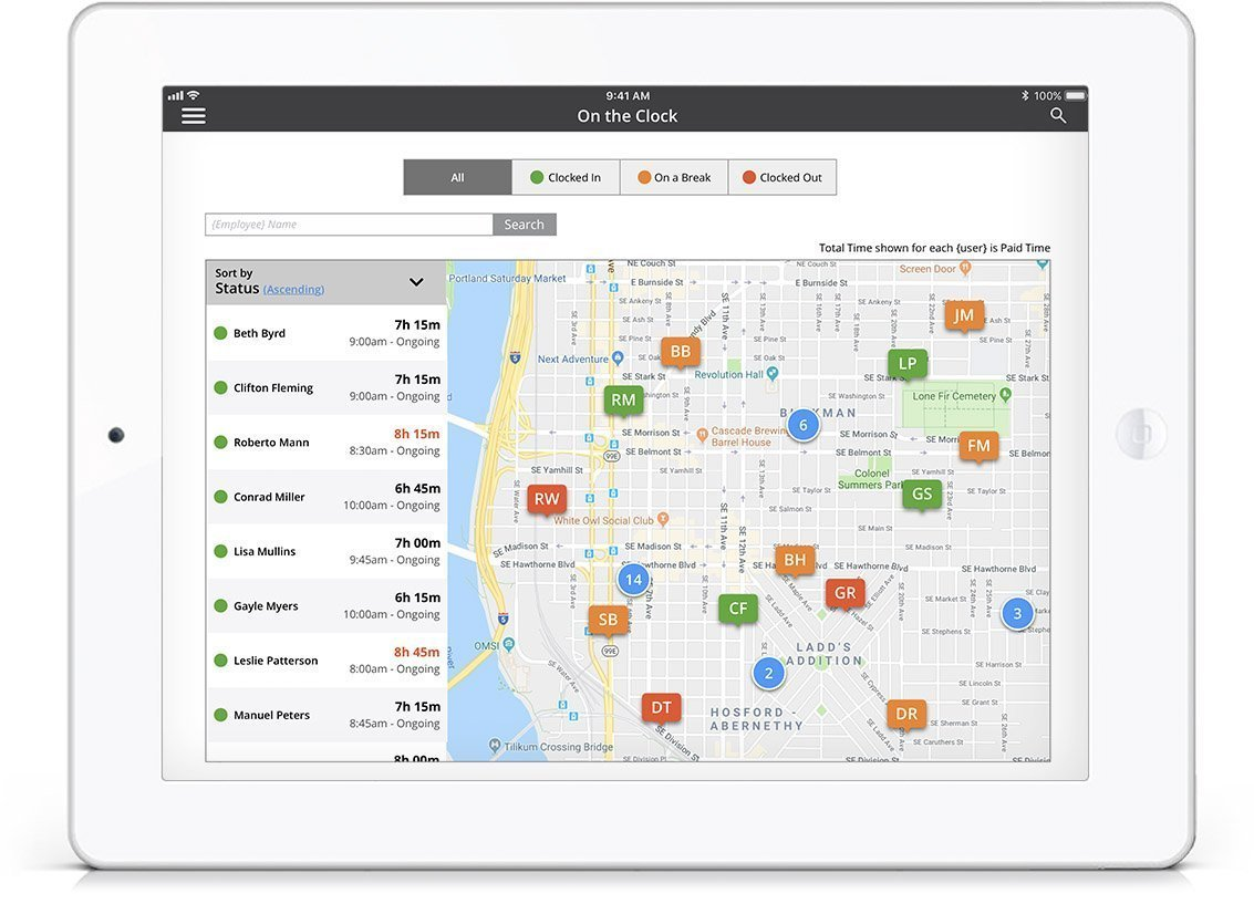 Employee GPS tracking