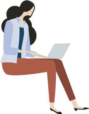 Girl on a laptop